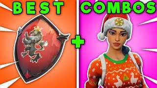 TOP 10 RED SHIELD + SKIN COSMETIC COMBINATIONS! (Fortnite Battle Royale)
