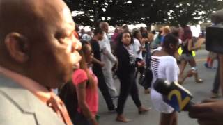 Rep. John Lewis Marches in Atlanta in solidarity with protestors in Ferguson