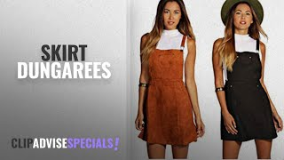 Top 10 Skirt Dungarees [2018]: Red Olives Womens Ladies Straps Suedette Overall Skirt Pinafore