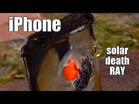 Solar Fresnel Lens vs an iPhone double power Death Ray