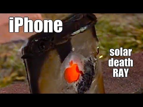 Solar Fresnel Lens vs an iPhone double power Death Ray
