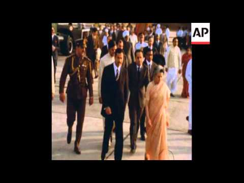 SYND 28-3-74 VICE-PRESIDENT OF IRAQ SADDAM ARRIVES IN INDIA