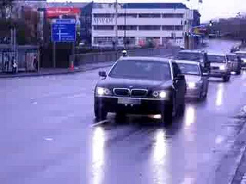 Police Motorcade, Condi Rice