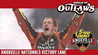 World of Outlaws Sprint Car Series Victory Lane 56th Annual Knoxville Nationals