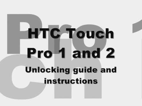 How to Unlock HTC Touch Pro 2 ii 3g touchpro 1 - Sprint Telus Verizon