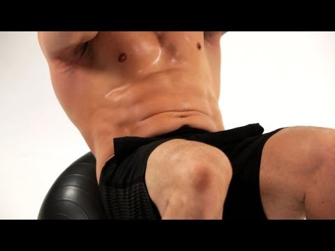 How to Do Ab Crunches on Exercise Ball  Ab Workout