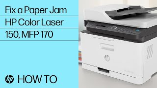 How to Fix a Paper Jam in the HP Color Laser 150, MFP 170 Printer Series | HP Laser | HP