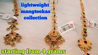 22ct gold latest light weight mangteekas collection with weight &adress details // papida billa
