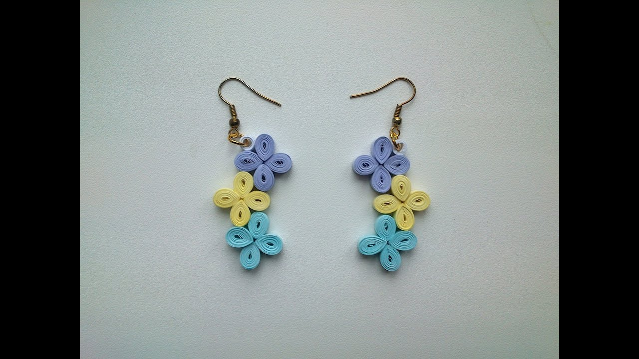 Quilling Earrings Tutorial: How to make simple Quilling ...