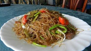 ВОК (WOK) - Китайский ресторан дома, рисовая лапша со свининой и овощами )