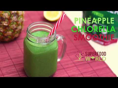 Revitalising Pineapple Chlorella Smoothie Recipe - Superfood World