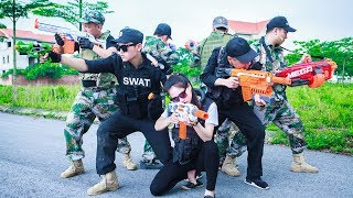 LTT Nerf War : SEAL X Warriors Nerf Guns Attack Combated Criminal Group Rescue The Lover