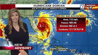 Dorian downgraded to a Cat. 2 hurricane, tropical storm watch ended for Broward