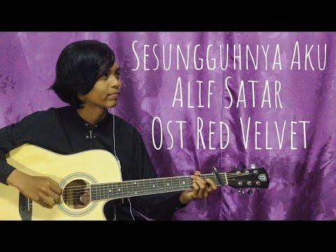 *Karaoke* Sesungguhnya Aku Alif Satar Fingerstyle Guitar Cover instrumental With Lirik