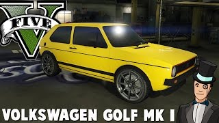 GTA 5 Mods - VOLKSWAGEN GOLF MK I vs 5 STAR COP CHASE! GTA V PC Gameplay