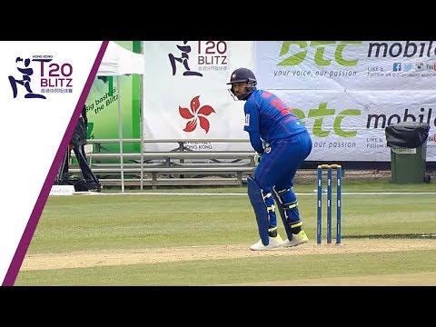 Kowloon Cantons innings against Galaxy Gladiators Lantau | Hong Kong T20 Blitz 2018