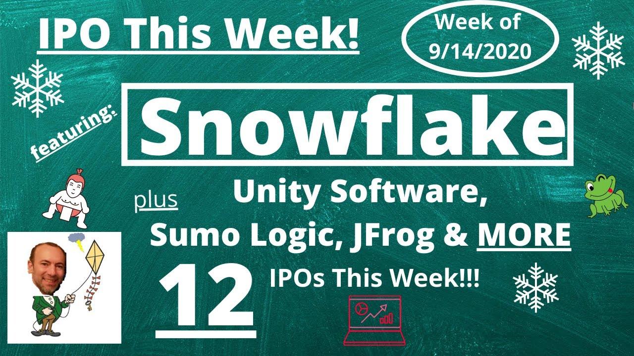 Tech IPOs: Snowflake, JFrog, Sumo Logic, Unity
