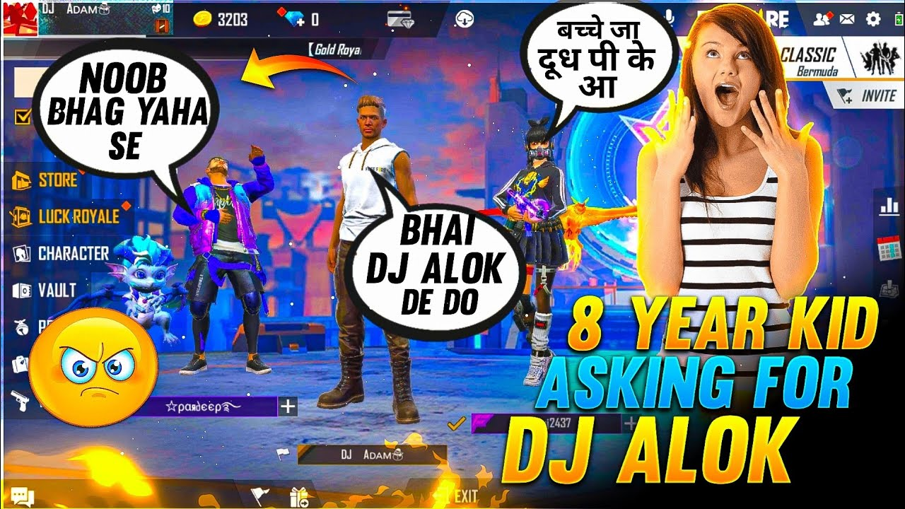 8 Years Kid Asked For Dj Alok Gone Funny - They Called Me Noob || Rahul Gamer