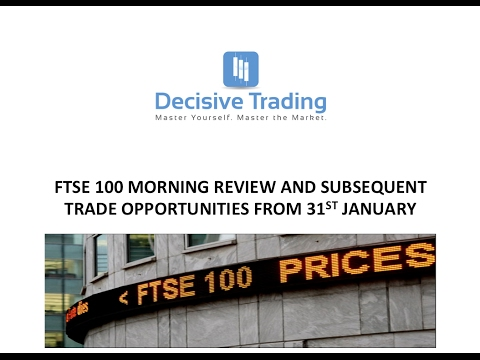 Ftse 100 Price Action Review 31st Jan