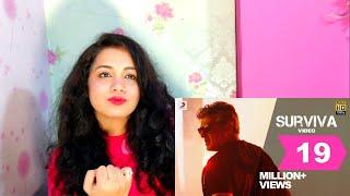 Vivegam - Surviva Official Song Video | Ajith Kumar | Anirudh | Siva | Reaction