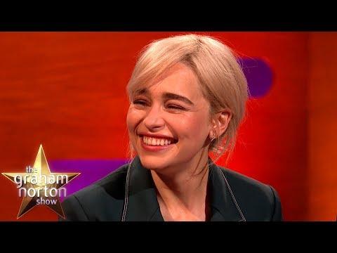 Brad Pitt Bid $120k For A Night With Emilia Clarke!    The Graham Norton Show