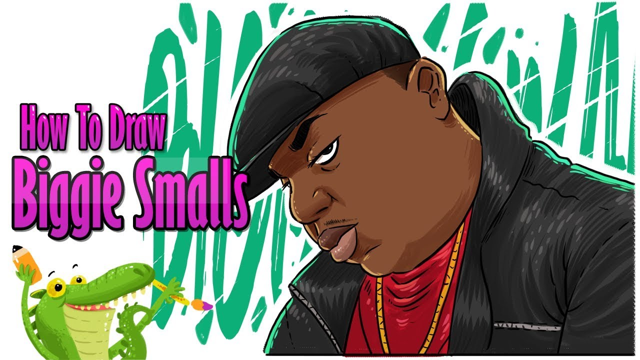 How To Draw Biggie Smalls Youtube
