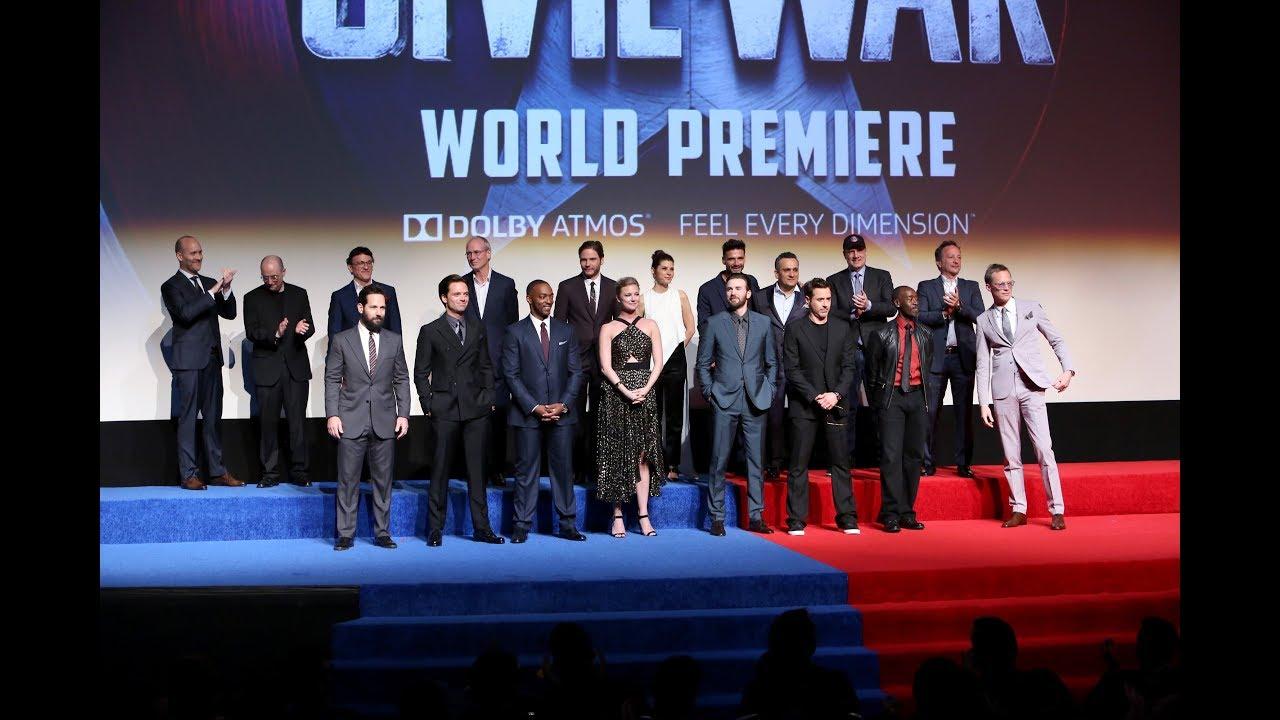 CAPTAIN AMERICA CIVIL WAR World Premiere Red Carpet - YouTube
