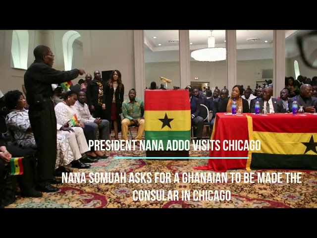 President of the Ghana National Council , Paa Kwasi Sam Makes case for Consulate Office  in Chicago