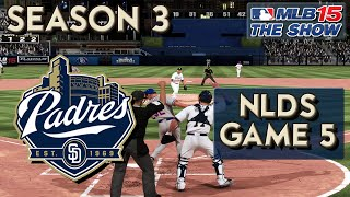 MLB 15 The Show Franchise Mode: San Diego Padres Ep. 55 | NLDS GAME 5!!