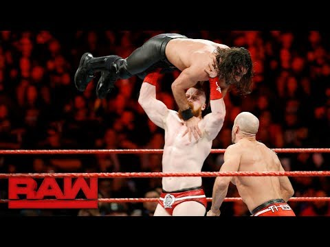 Cesaro & Sheamus vs. Seth Rollins & Dean Ambrose - Raw Tag Team Title Match: Raw, Dec. 4, 2017