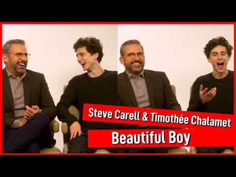 Timothée Chalamet and Steve Carell totally boy over each other  Beautiful Boy