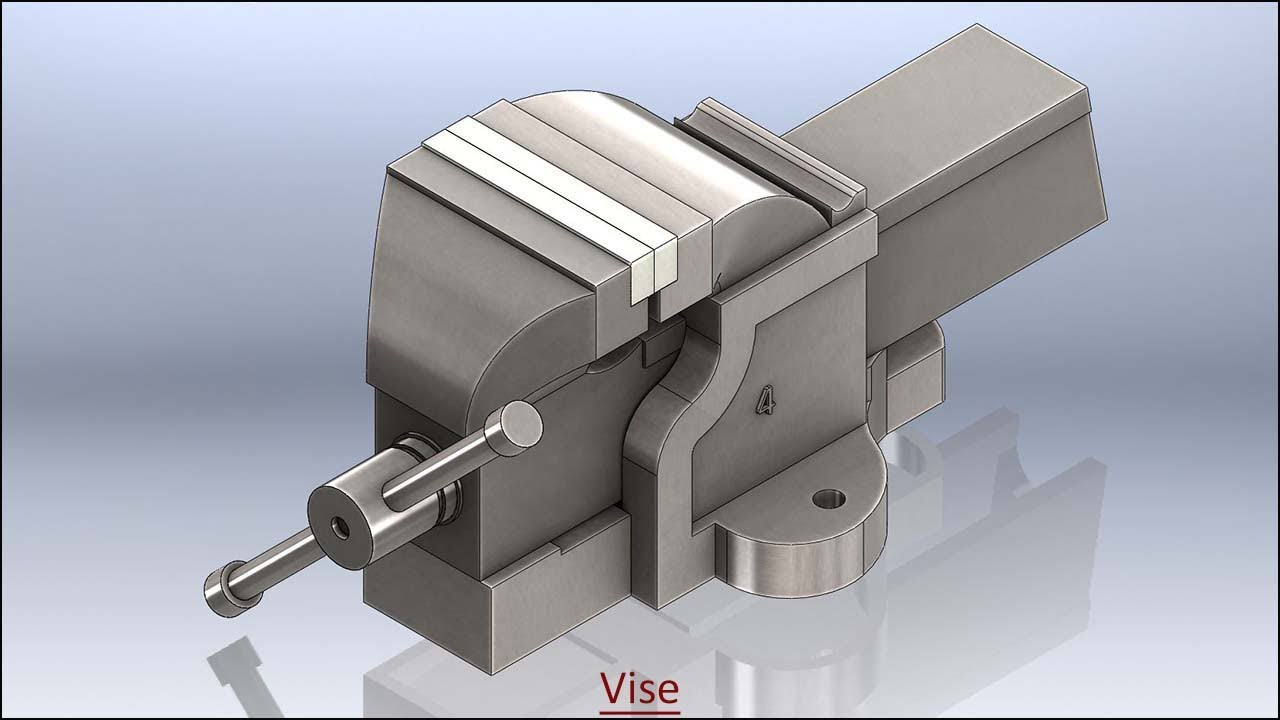 Vise with audio narration || SolidWorks Tutorial
