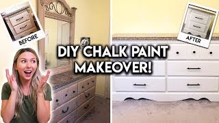 DIY DRESSER MAKEOVER | EASY CHALK PAINT TUTORIAL