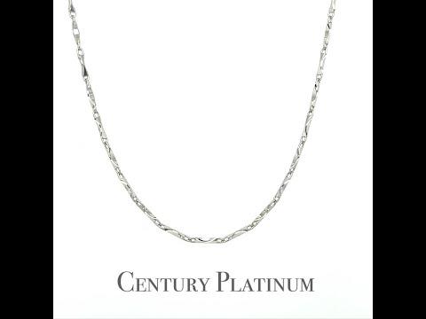 世紀白金 【白金項鍊】可調式 元寶刻花 WNA026