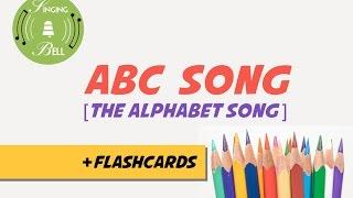 ABC Song [with Flashcards] (nursery rhyme - lyrics video for karaoke + alphabet teaching)