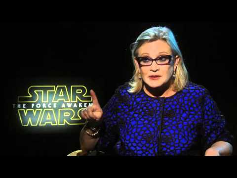 Star Wars: The Force Awakens: Carrie Fisher Official Movie Interview