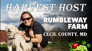 Harvest Host Free Camping at Rumbleway Farm in Maryland