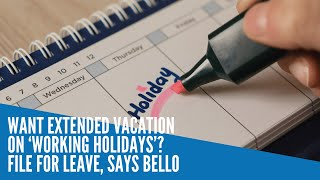 Want extended vacation on 'working holidays'? File for leave, says Bello