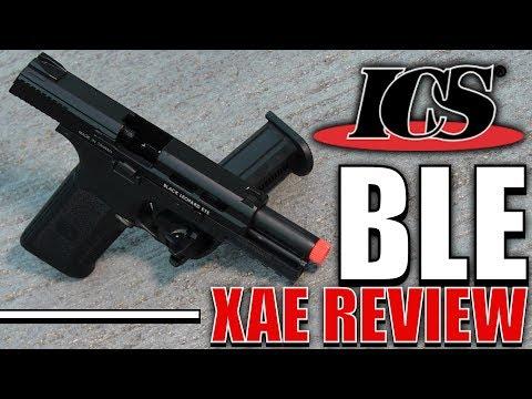 ICS BLE XAE Airsoft Pistol Review - Black Leopard Eye - $100