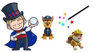The Magic Magician Transforms Funny Dogs into The Paw Patrol