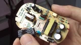 Sửa quạt hơi nước Kangaroo bật được nguồn không điều khiển được bằng phím bấm và remote phần 1