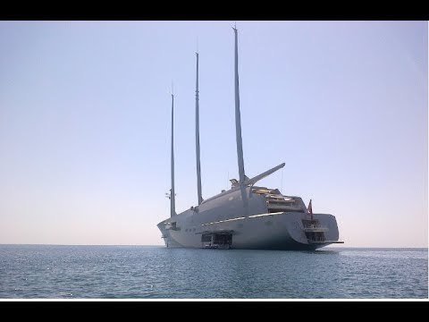 """OFFSHORE CLOSER MEETING: THE SUP Meets THE WORLD's BIGGEST SAILING YACHT """"A"""""""