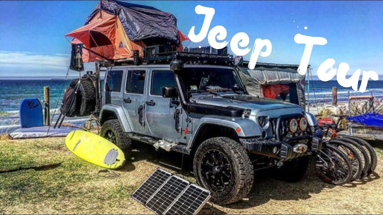 Build A Jeep >> A TOUR THROUGH OUR JEEP WRANGLER OVERLAND VEHICLE // PART 1 - YouTube