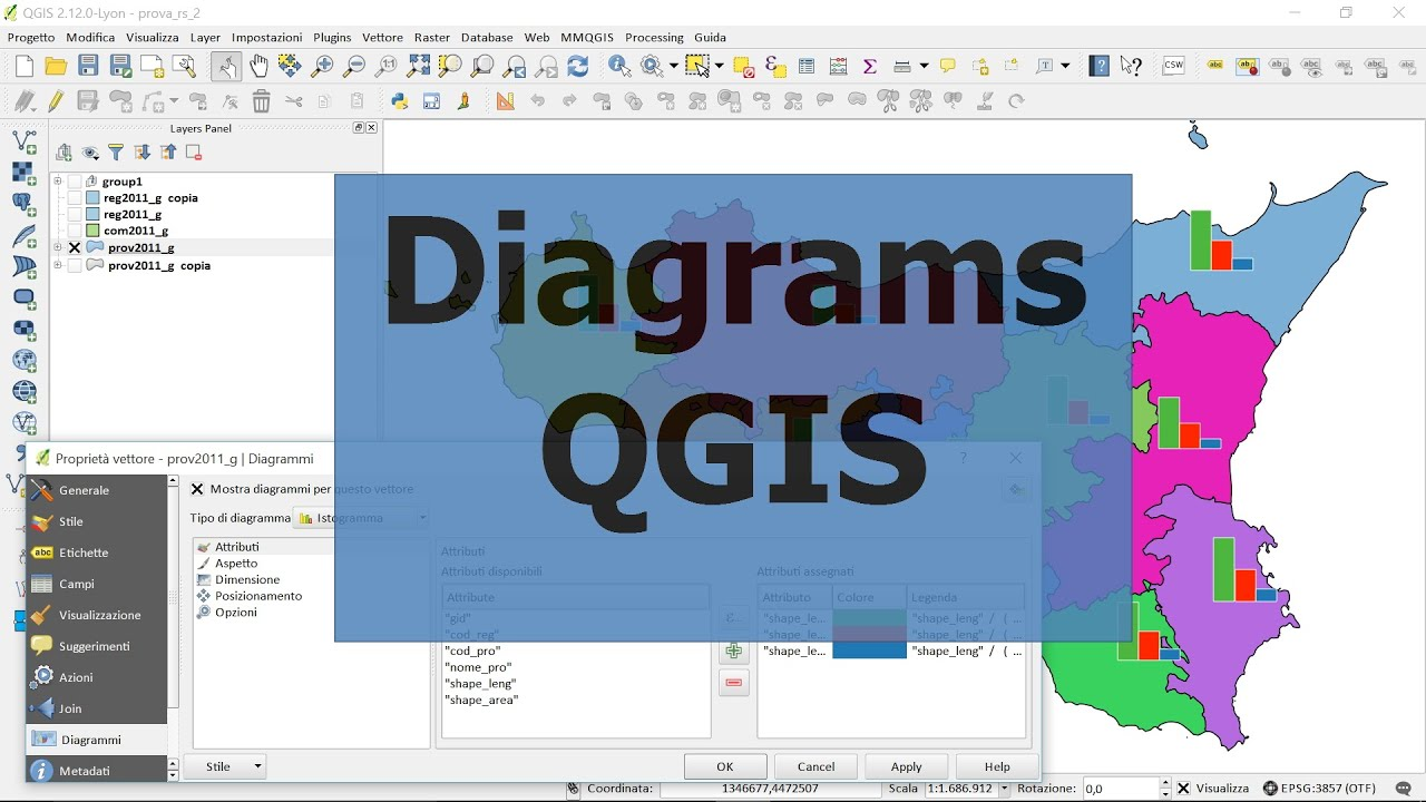 Diagrams on the map qgis youtube diagrams on the map qgis ccuart Images