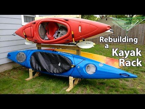 Afternoon project: Rebuilding a Kayak Rack