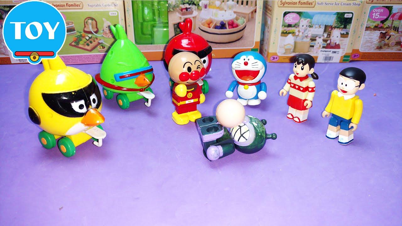 Đồ chơi Doremon - Nobita bắt siêu trộm trứng chim Angry bird