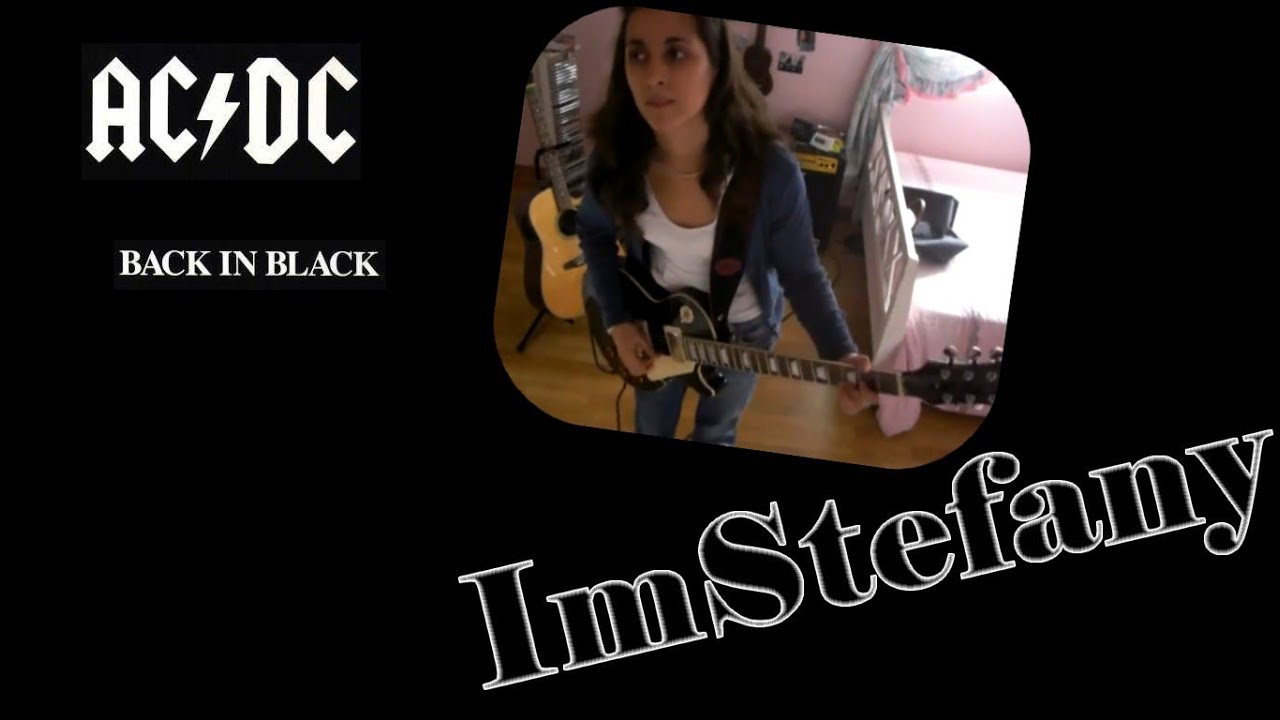 how to play acdc back in black on acoustic guitar