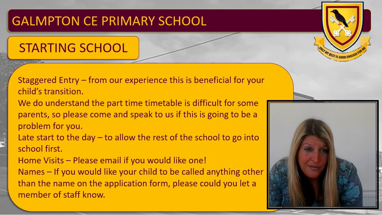 EYFS Welcome video and information for new starters