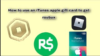 How to get robux open App Store or iTunes gift card 💕💕