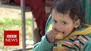 Sheltering from shelling in Kashmir - BBC News
